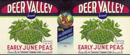 #ZLCA095 - Deer Valley Early June Peas Label