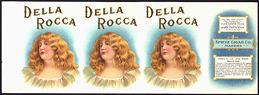 #ZLCA188 - Spectacular Della Rocca Cigar Can Label