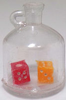 #TY564 - Jug Containing a Pair of Dice Charm - As low as 35¢ each
