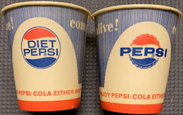 #SOZ062  - Early Diet Pepsi/Pepsi Sample Size Cup