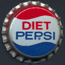#BC151 - Group of 10 Early Cork Lined Diet Pepsi Bottle Caps