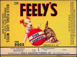 #ZBOT164 - Dr. Feely's Pine Shampoo for Dogs Bottle Label