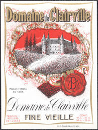 #ZLW176 - Group of 4 Domaine de Clairville French Wine Labels