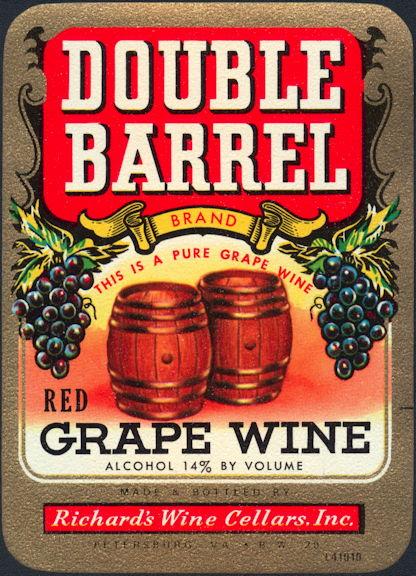 #ZLW023 - Double Barrel Grape Wine Label