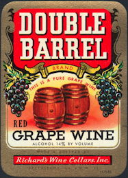 #ZLW023 - Double Barrel Grape Wine Label