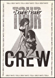 ##MUSICBP0157 - OTTO Cloth Crew Backstage Pass for the Tesla/Great White 1989 Double Header Tour