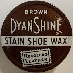 #CS438 - DyanShine Shoe Wax Tin - Brown