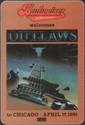 ##MUSICBP0294 - Outlaws OTTO Cloth Radio Pass from 1981 Ghost Riders Tour