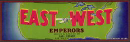 #ZLSG038 - East West Single Prop Plane Grape Crate Label