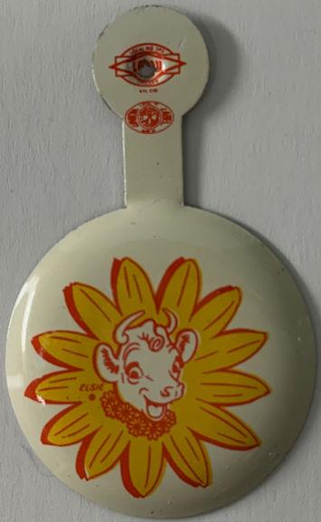 #DA076 - Group of 12 Elsie Pinbacks - 1964 New York World's Fair Giveaway
