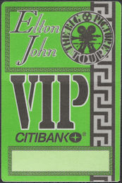 ##MUSICBP0724  - Elton John OTTO Cloth Backstage Pass from the 1993 The Big Picture Tour