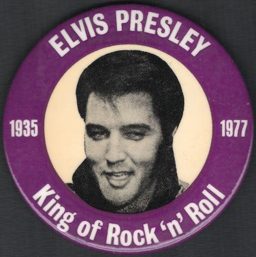 ##MUSICBG0032  - Elvis Memorial Pinback