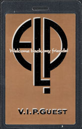 ##MUSICBP0381 - Emerson Lake and Palmer (ELP) OTTO Laminated VIP Backstage Pass from the 1992 Welcome Back my Friends! Tour