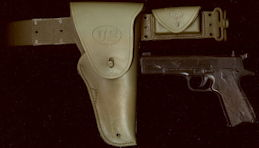 #TY744 - Adjustable Waist U.S. Gun Holster with Clicker Gun - Nichols/Kusan - Doesn't Click Anymore