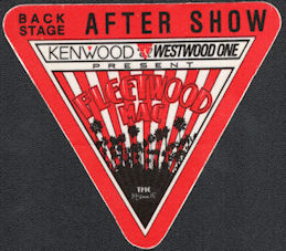 ##MUSICBP0329  - 1987 Fleetwood Mac Tango Tour OTTO Cloth After Show Backstage Pass