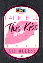 ##MUSICBP0553  - Faith Hill All Access Laminated PERRi Backstage Pass from the This Kiss Tour