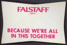 #SP033 - Cloth Falstaff Beer Sticker