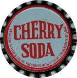 #BC024 - Group of 10 Old Logo Cork Lined Cherry Soda Caps