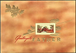 #ZLSC112 - Greetings to Father Inner Cigar Box Label - Fishing