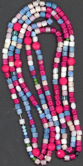 #BEADS0212 - Very Old Strand of Czech Glass Floor Sweeping Beads - 4 1/2 feet long - only 2¢ a bead!!!!!