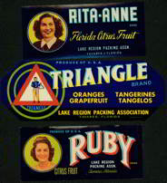 #ZLCA*017 - Three Different very 1940s Citrus Labels
