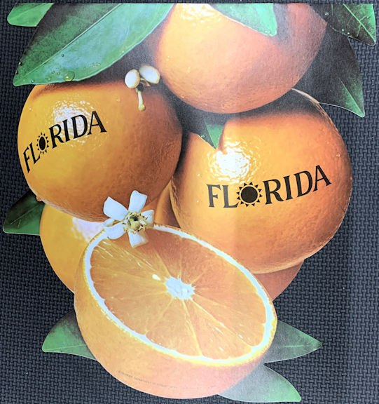 #SIGN229 - Large Florida Oranges Two Sided Paper Banner