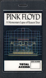 ##MUSICBP0580  - Pink Floyd 1987 Momentary Lapse of Reason Tour OTTO Laminated Total Access Backstage Pass