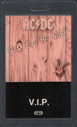 ##MUSICBP0819 - Rare AC/DC OTTO Laminated Backstage VIP Pass from the 1985 Fly on the Wall Tour