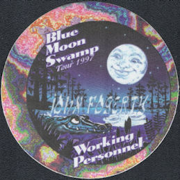 ##MUSICBP0794 - John Fogerty (Creedence Clearwater Revival) OTTO cloth backstage pass from the Blue Moon Swamp Tour