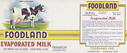 #ZLCA079 - Foodland Evaporated Milk Label with Cow