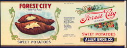 #ZLCA249 - Forest City Sweet Potatoes Can Label