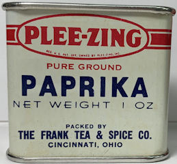 #CS472 - Full Tin of Plee-zing Brand Frank Tea and Spice Ground Paprika