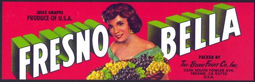 #ZLSG048 - Fresno Bella Grape Label
