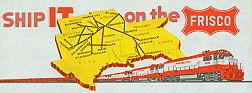 #ZZZ006  - Frisco Railway Letterhead