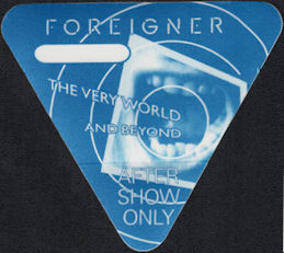 ##MUSICBP0668 - Foreigner OTTO Backstage Pass from 1992 The Very World and Beyond Tour