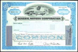 #ZZCE030 - Stock Certificate from General Motors Corporation
