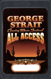 ##MUSICBP0616  - Oversized George Strait Laminated T-BIrd All Access Backstage Pass from the George Strait Country Music Festival - Tim McGraw, Dixie Chicks