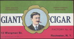 #ZLCA099 - Giant Cigar Can Label