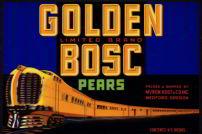 #ZLC182 - Golden Bosc Pear Crate Label