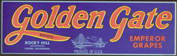 #ZLSG034 - Golden Gate Grape Crate Label