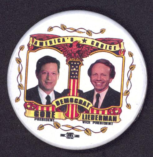 #PL279 - Gore Lieberman Jugate Pinback
