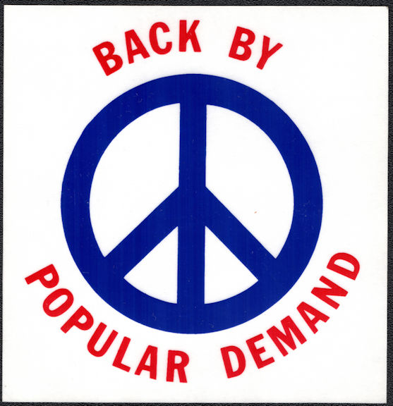 ##MUSICBP2025 - Grateful Dead Car Window Tour Sticker/Decal - Back by Popular Demand Peace Symbol