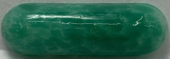 #BEADS0935 - Large Ground Glass 30mm Green Coral Matrix Glass Cabochon - As low as 25¢ each