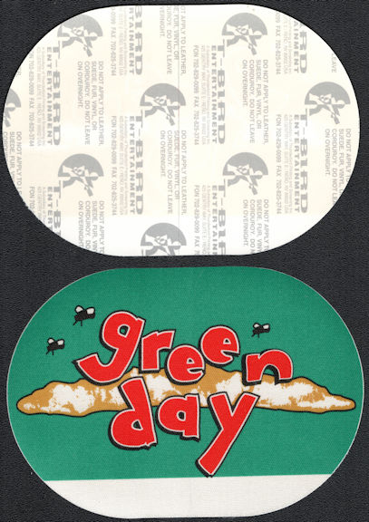 ##MUSICBP0618  - Green Day Oblong 1994 Dookie Tour T-Bird Cloth Backstage Pass