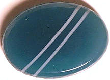 #BEADS0487 - 18mm Green and White Striped Glass Cabochon - As Low as 25¢
