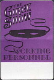 ##MUSICBP0768  - Pair of Madonna OTTO Cloth Backstage Working Personnel Passes from the 1993 The Girlie Show Tour