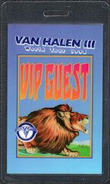 ##MUSICBP0230  - Van Halen 1998 Van Halen III Tour OTTO VIP/Guest Laminated Backstage Pass