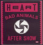 ##MUSICBP0009  - 1987 Square Heart OTTO Backstage Pass from the Bad Animals Tour