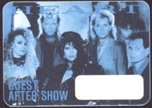##MUSICBP0036  - 1985 Heart OTTO Backstage Pass from the Heart Album Tour
