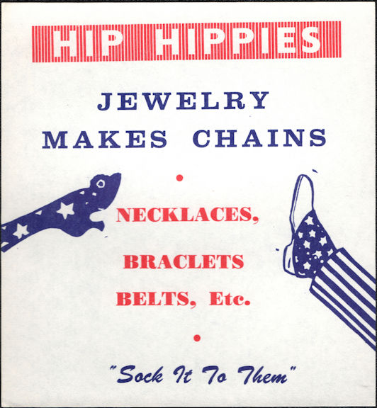 """#SIGN060 - Group of 4 """"Hip Hippies"""" """"Sock it to Them"""" Vending Machine Sign"""